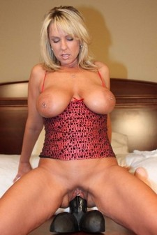 Incredible pussy vibrator pic with a gorgeous blonde mom.