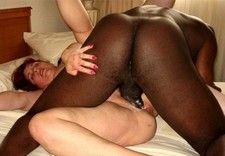 Incredible creampie interracial pic with superb butt.