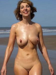 Shaved nudist milf.