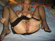 Horny wife after the passionate sex, showing wet hard fucked pussy and ass hole