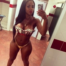 Nice dirty ebony selfshot hr amazing sexy body in hot bkini on her great big boobs and..