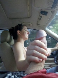 She missed the gear shift stick driving a car :)
