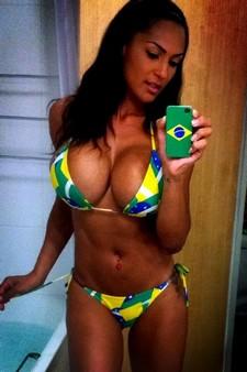 Hot brasilian selfie in bikini
