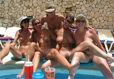Mature ladies showing their goods all together