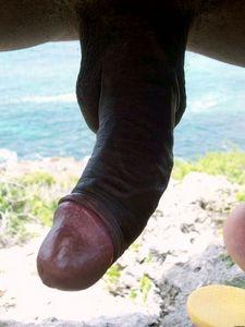 Bimbo dick in fresh air