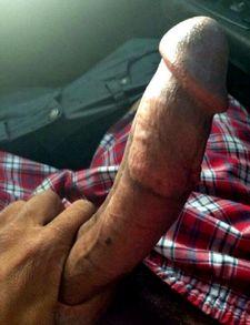 Huge crocked dick in car
