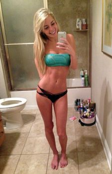 Fabulous blonde fit in a amazing girlfriend g-string picture.