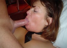 Amateur porn photos - mature wife giving a great head