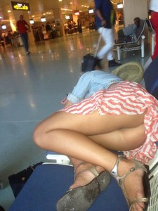 Voyeurism is alive in well at an airport near you!.