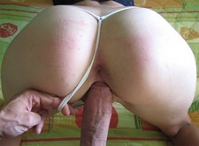 Homemade porn photos of me fucking my wife's pussy and round butt