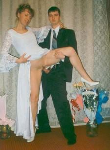 Amateur porn photos - spouses right after the wedding