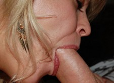 Close-up cock sucking homemade porn photos