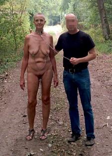 Ugly old lady slave