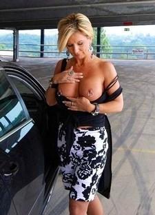 MILF with pierced nipples