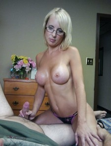 Hot glasses MILF in stockings smashed by black perv in front of son