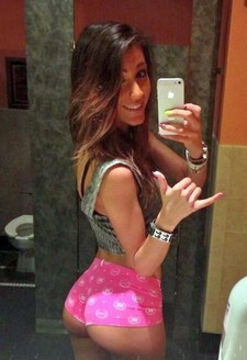 Hot brunette slut gets her great ass