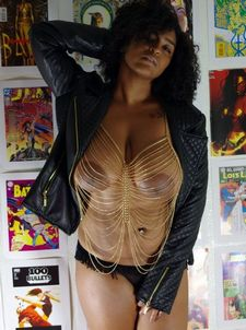 Mature ebony wife with big saggy tits and huge nipples makes a video for her man, bit of..