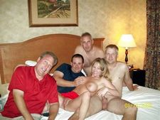 Beautiful slut is eager to have fun with two guys at the same time