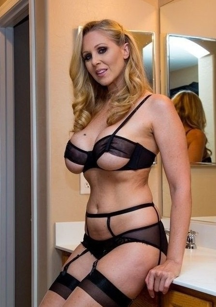 Luscious blonde mom.