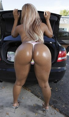 Awesome blonde showing her big real sexy hot ass and booty in perverse thong