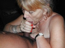 Lovely British granny dreaming of hard cock