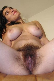 Hungarian milf playing with her extremely hairy pussy