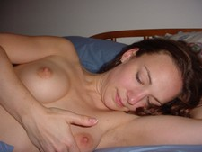 Beautiful wife posing naked after hot sex