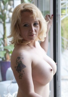 Sophia Mounds has an appropriate name, with her huge mounds of flesh, called melons and..