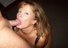 Cumshot on my horny mature wife