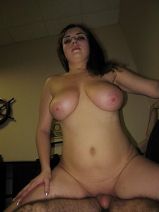 Pale Chubby Brunette With Big Boobs Having Sex