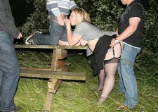 British dogging wife gets a swinger gangbang