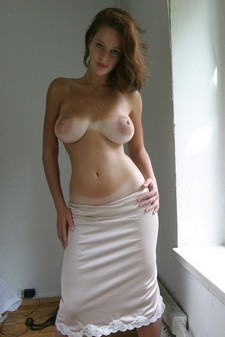 Nice Areolas on Tanned Lines Boobs