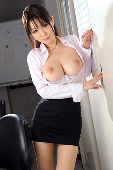 Busty asian model