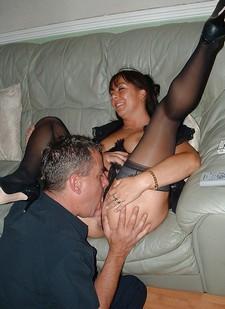 Cuckwifey MILF swinger licked out