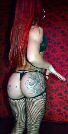 Hot naughty redhair slut have curves big boobs and tattoo big ass