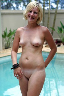 Erika naked near pool