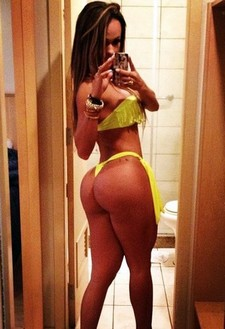 Handsome sexy latina in sexy bikini selfshot her huge ass and booty in sexy thong and..